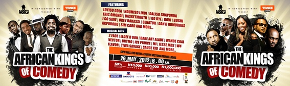 {EVENT} Basketmouth's African kings of comedy.