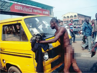 Unruly naked conductor charged to court for stabbing LASTMA Official