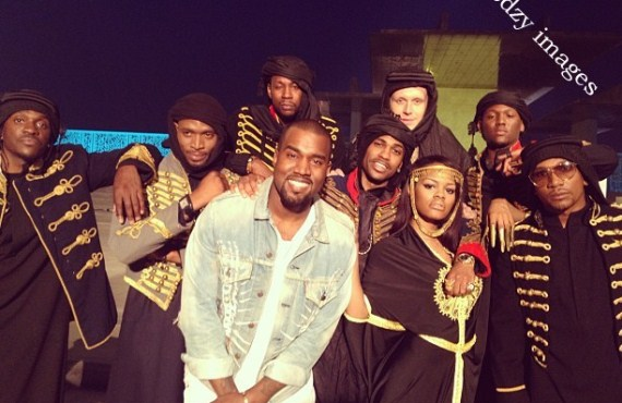 Photo of DBanj and other G.O.O.D music stars during movie shoot in Dubai