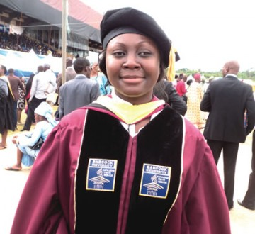 (Photo) 25 year Old Bags PhD from Babcock University
